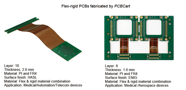 Flex-rigid PCB manufactured by PCBCart