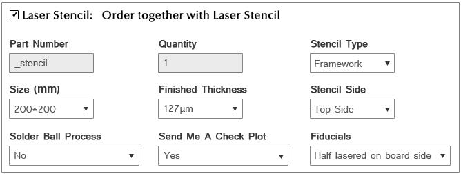 Order Laser Stencil | PCBCart